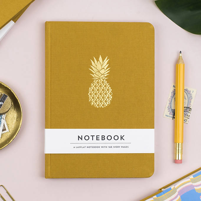 PINEAPPLE HARDBACK NOTEBOOK