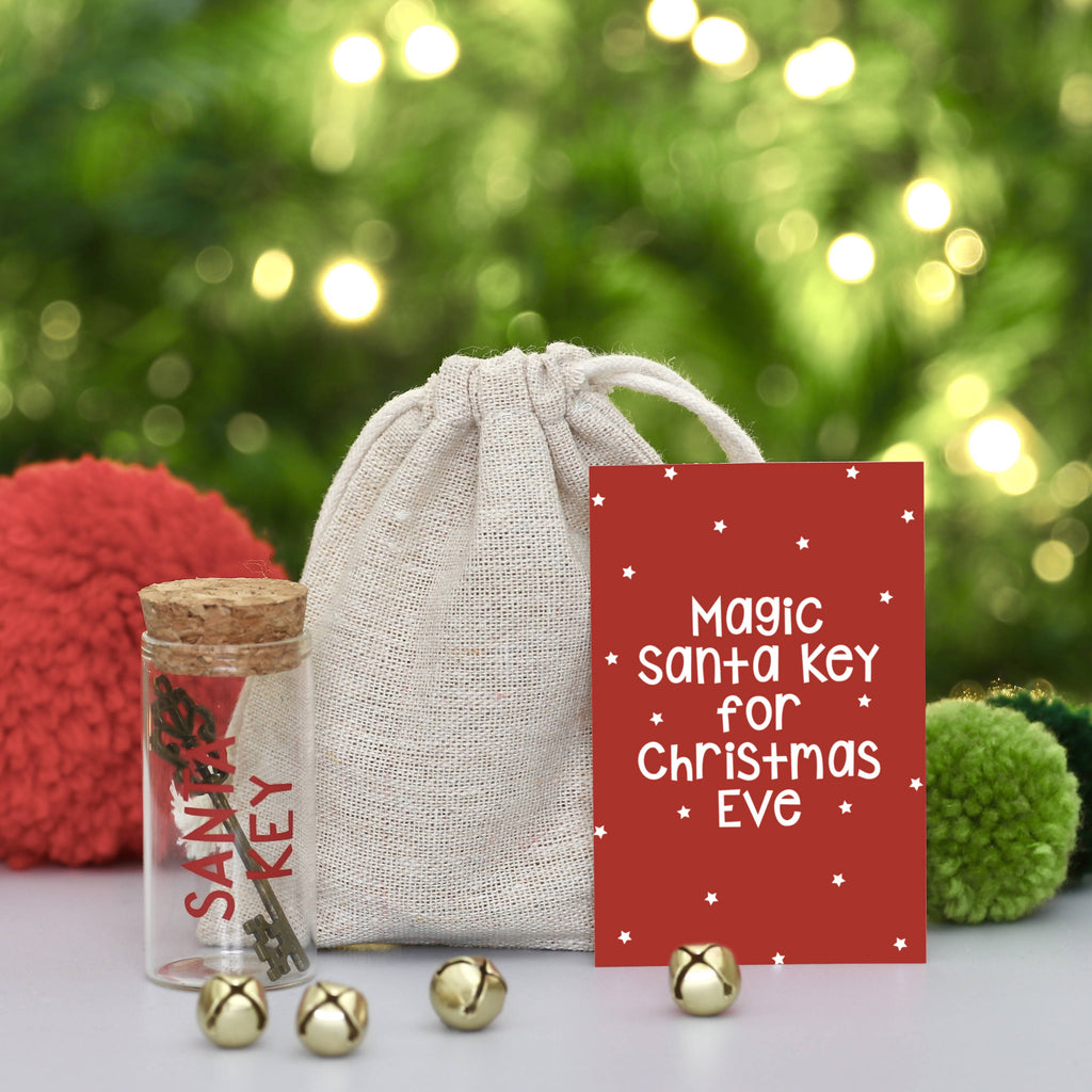 Santa Magic Key with Bag and Card - PERSONALISE ME!