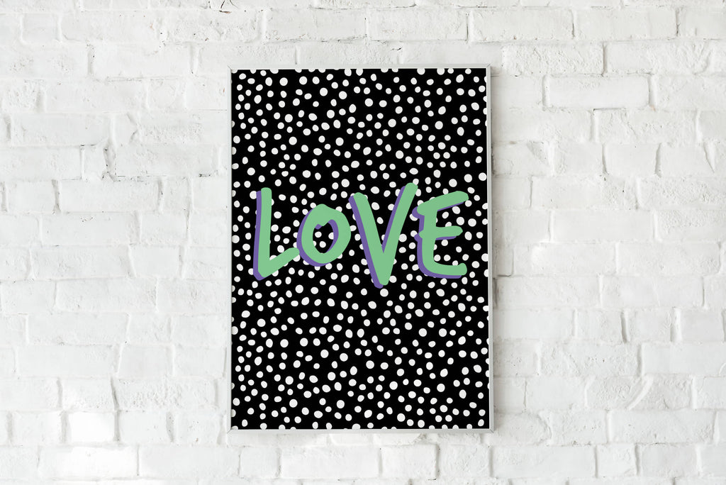 Love Polka Dot Black