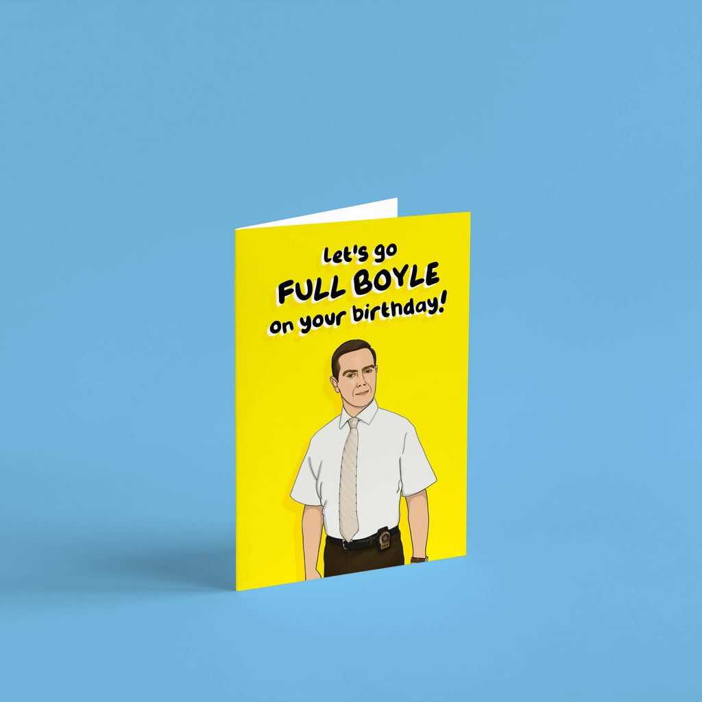 Let's Go Full Boyle on Your Birthday! Charles Boyle Brooklyn 99 Birthday Card | cards for him, cards for her, boyfriend, Girlfriend |