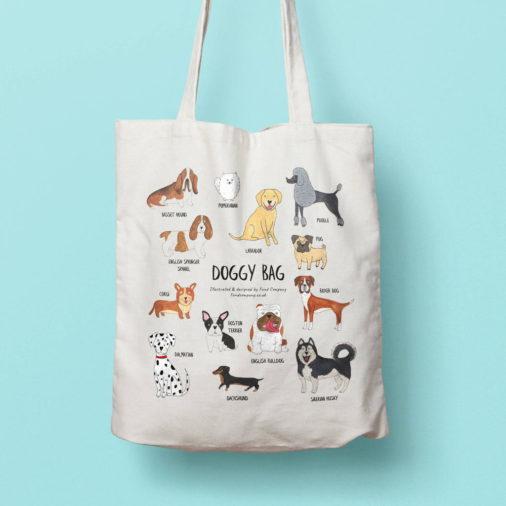 Illustrated doggy bag - dog tote bag | Fond Company