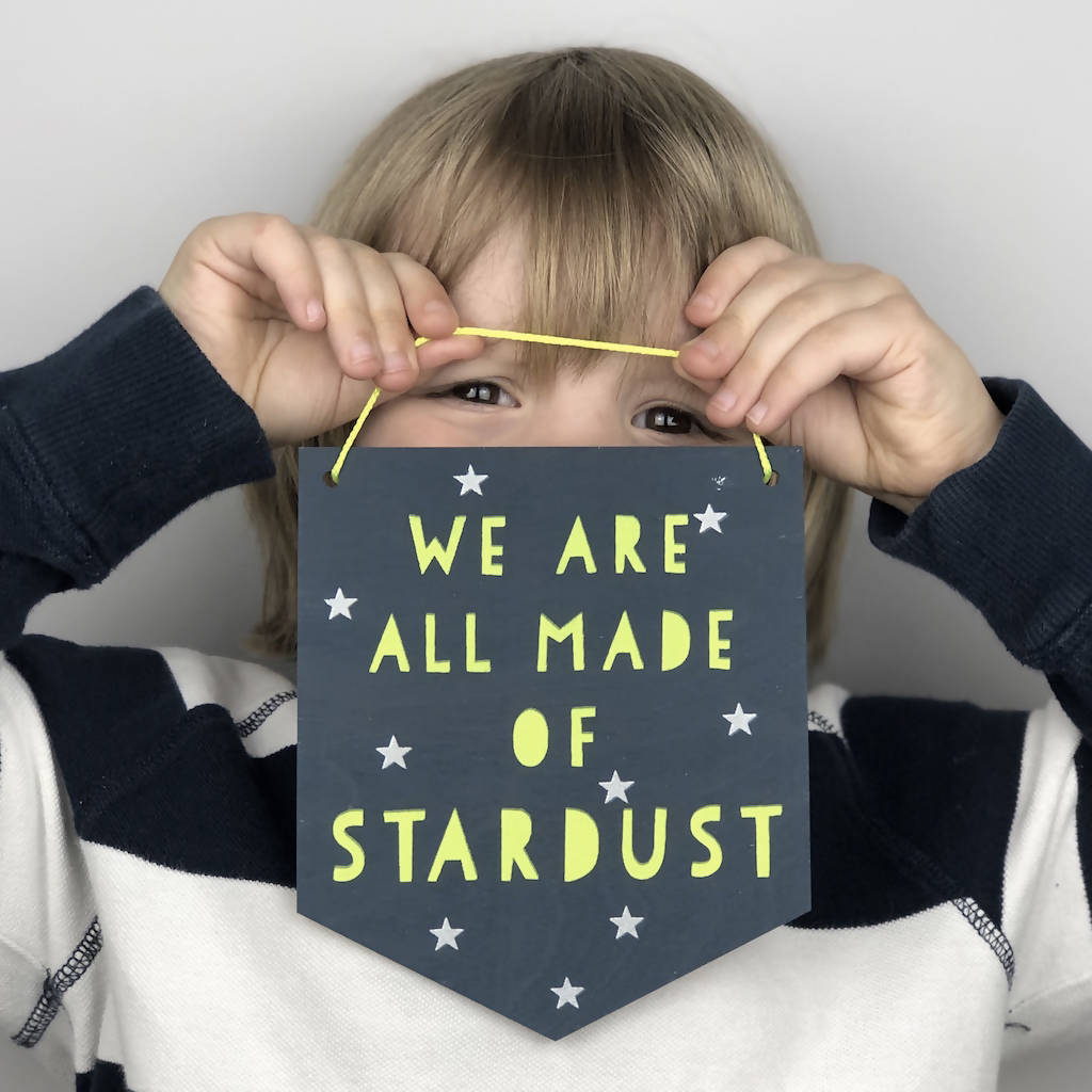 We Are All Made Of Stardust Glow In The Dark Wall Plaque
