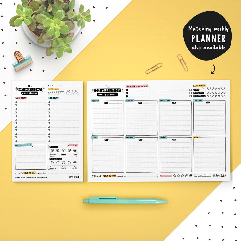 A5 Sort Your Life Out Daily Planner Notepad