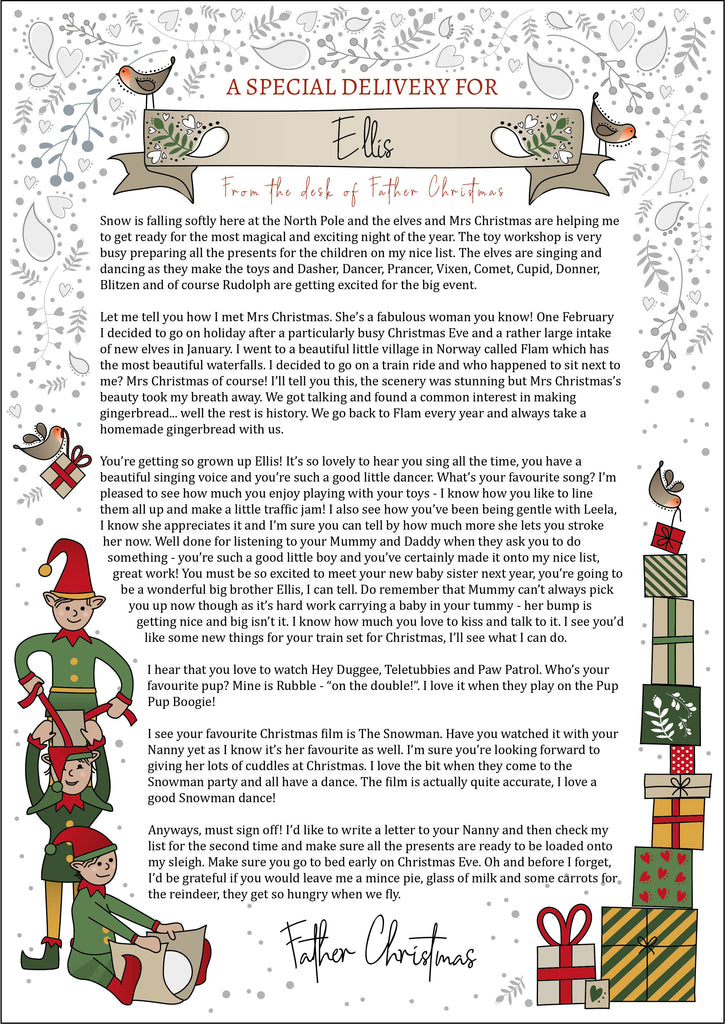 Personalised Letter for Children from Father Christmas