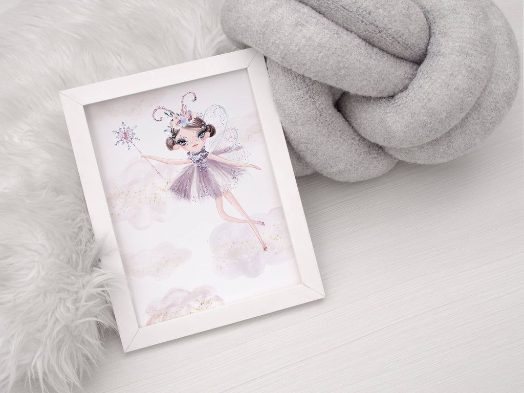 Pretty Fairy Cloud Wall Art Print