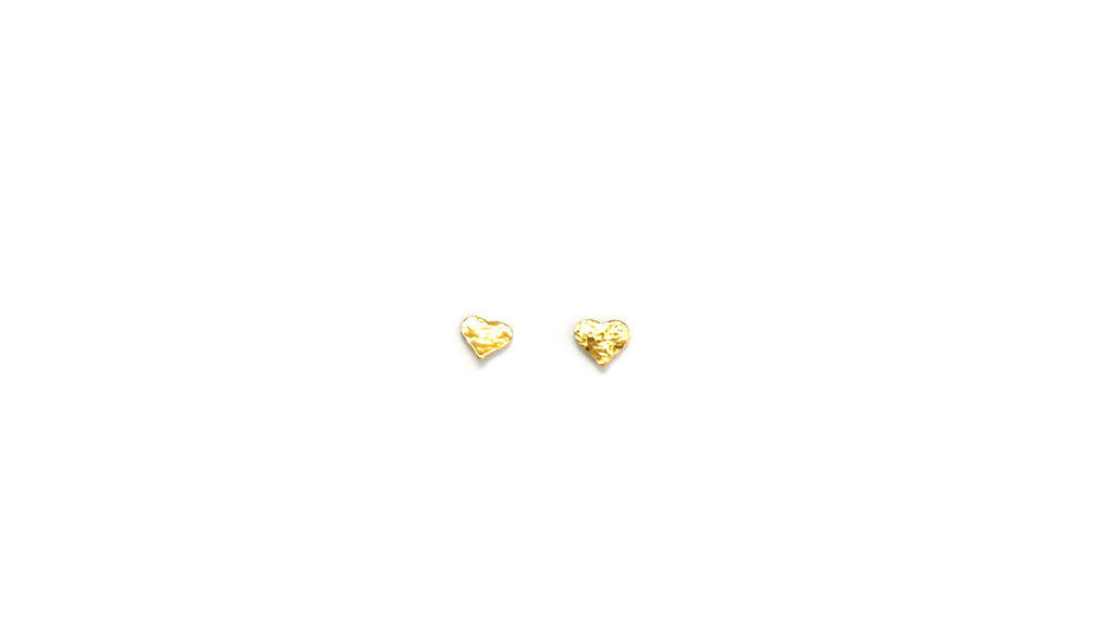 Star or Heart Stud Earrings, Gold - Design Vaults