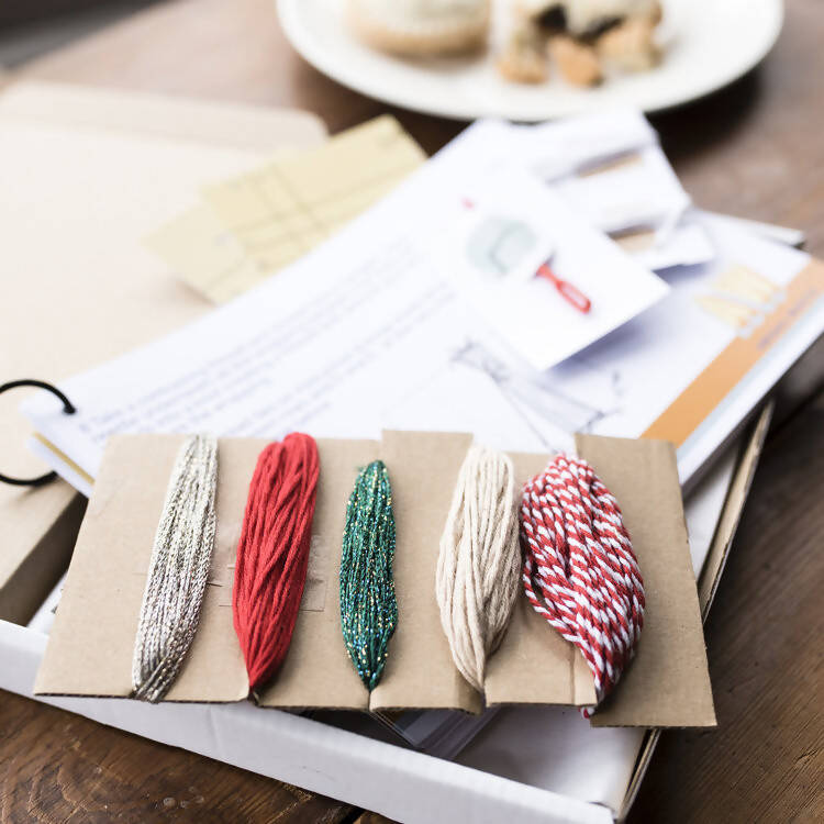 CHRISTMAS TASSEL GARLAND KIT- CHILD FRIENDLY