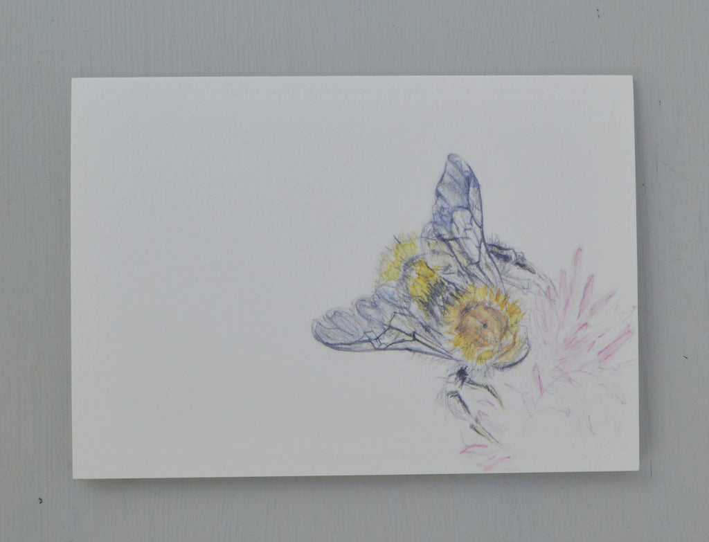 Bee and flower greetings card