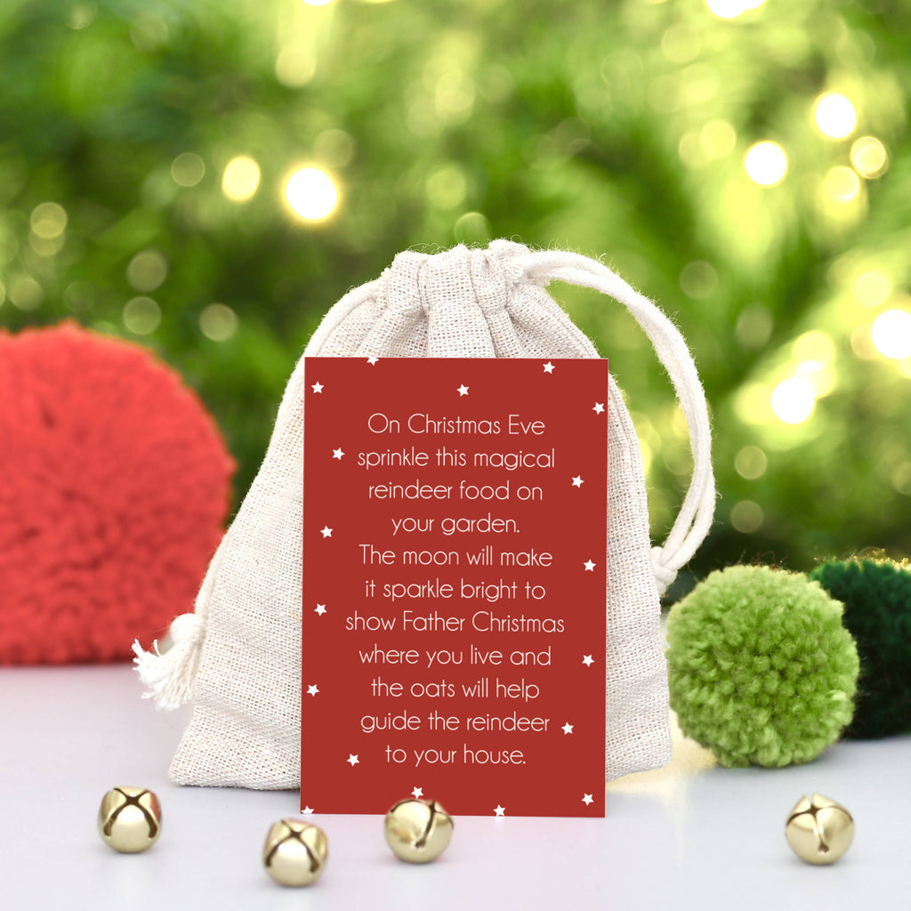 Magical Reindeer Food with Bag and Card - PERSONALISE ME!