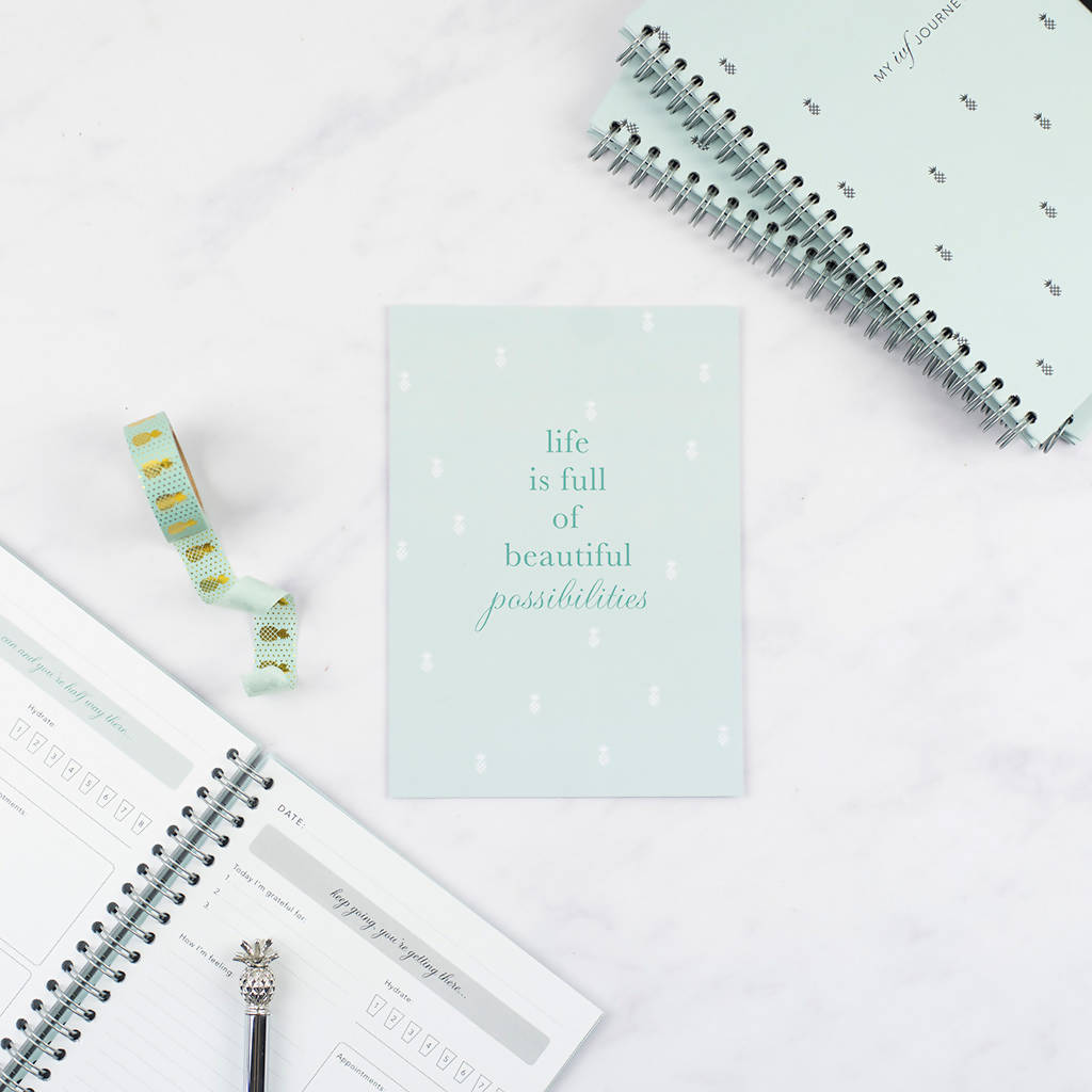 IVF Diary, Mint Pineapple