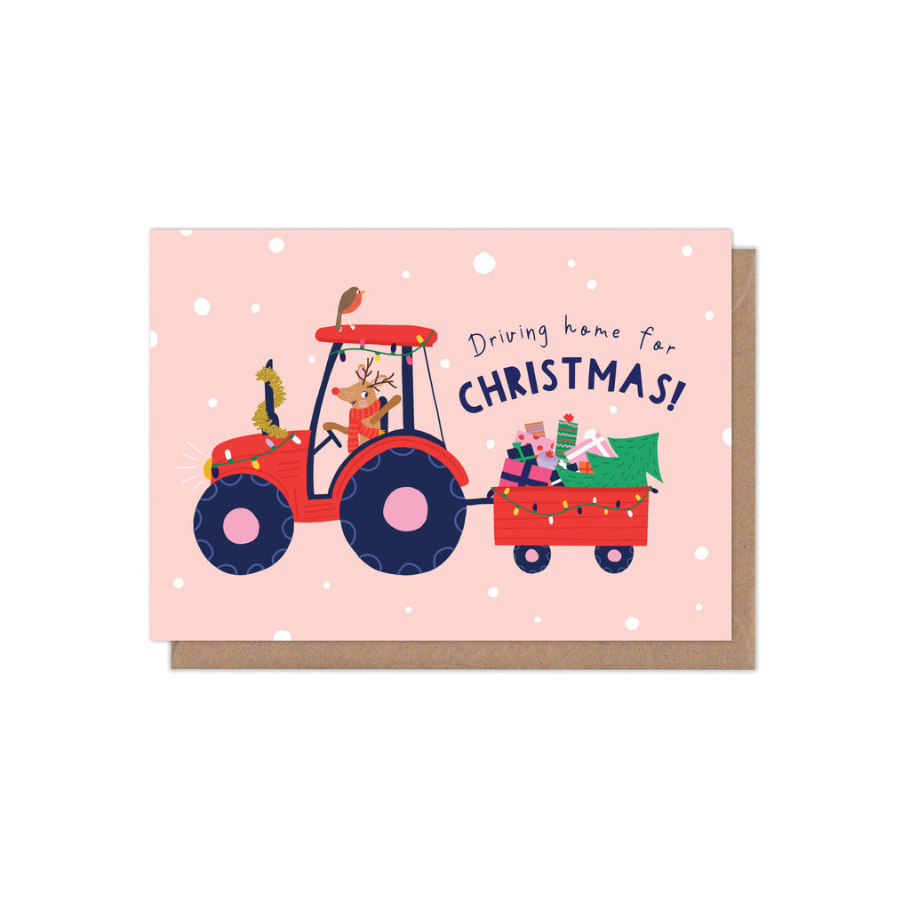 'Driving Home for Christmas' Christmas Card