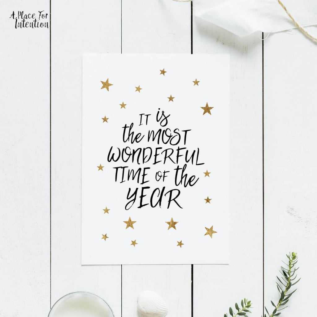 The Most Wonderful Time of Year Christmas Quote Card