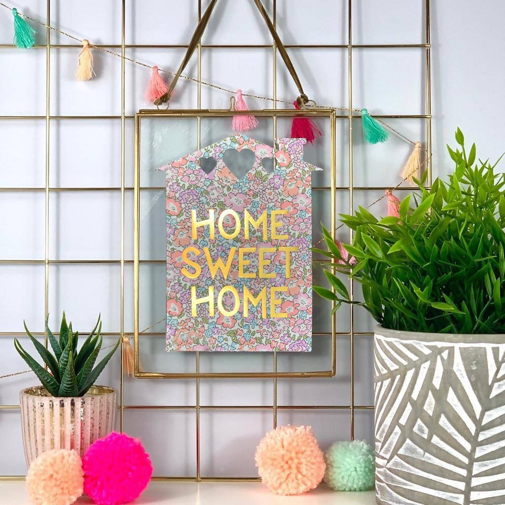 Liberty Print Home Sweet Home Gold Foil