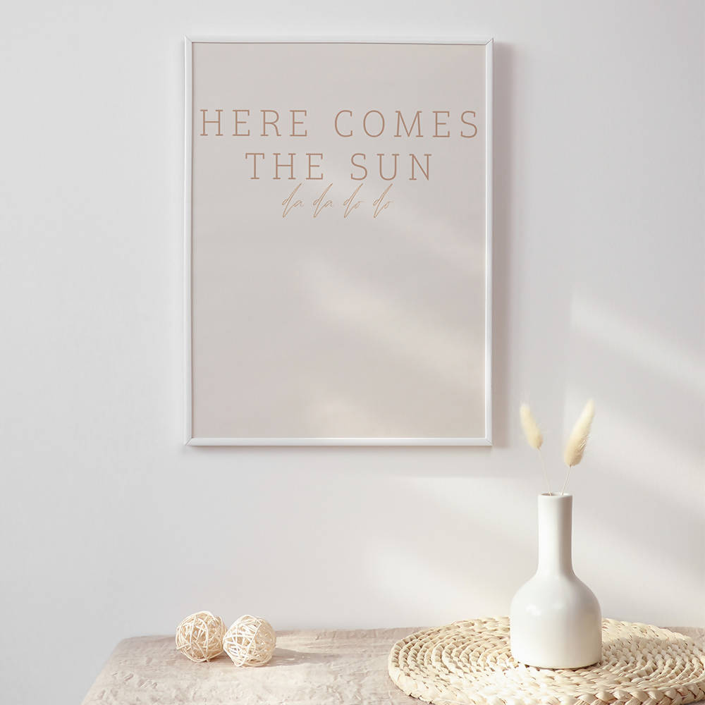 Here comes the Sun Print on Recycled Card Stock