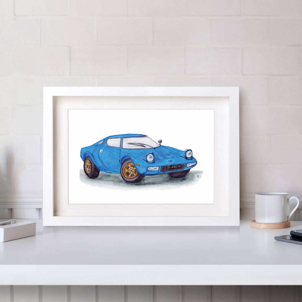 Aston Martin DB5 Front View Illustration Car Print