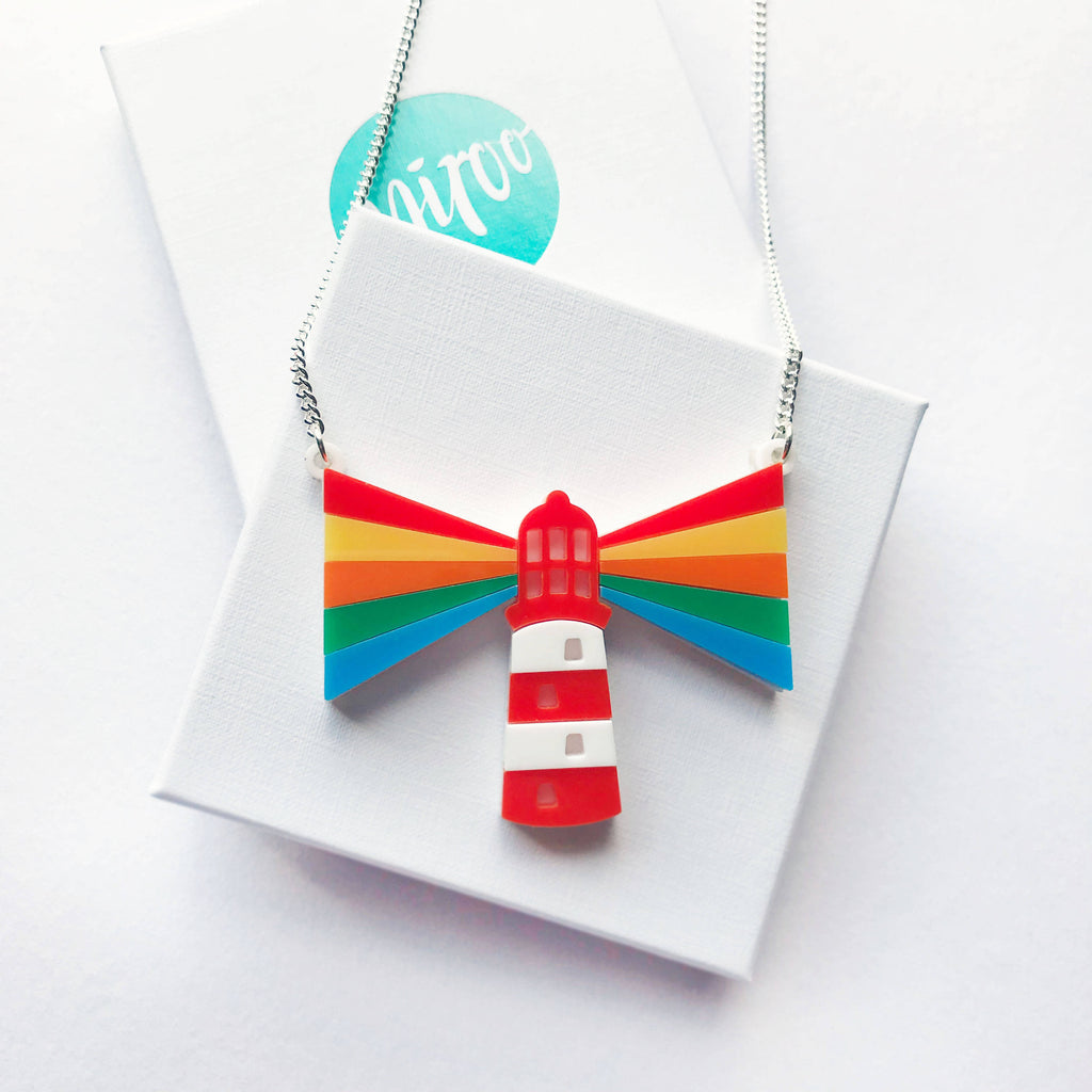'Radiate Rainbows' Rainbow Lighthouse Necklace