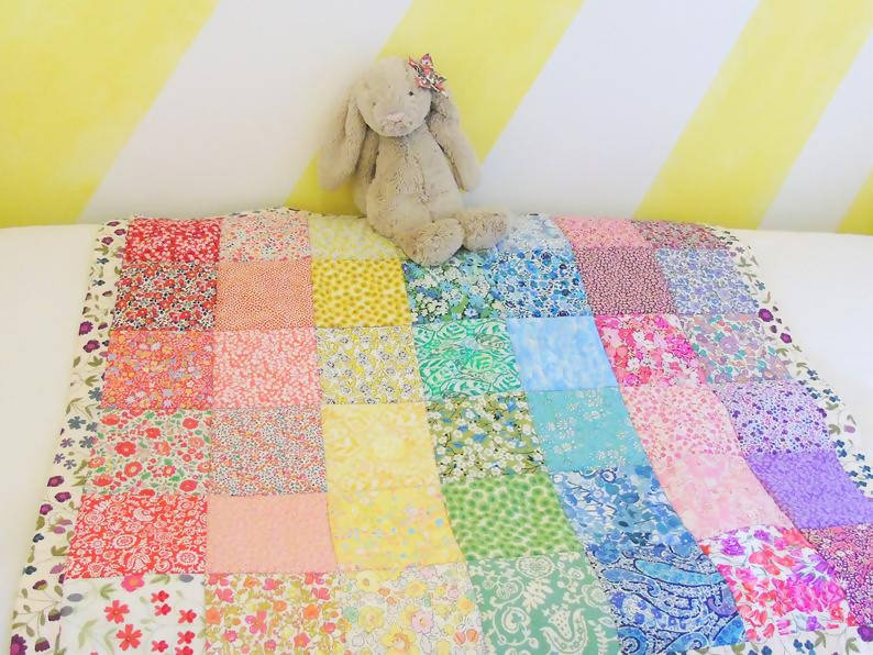 Rainbow Heirloom Quilt Crib