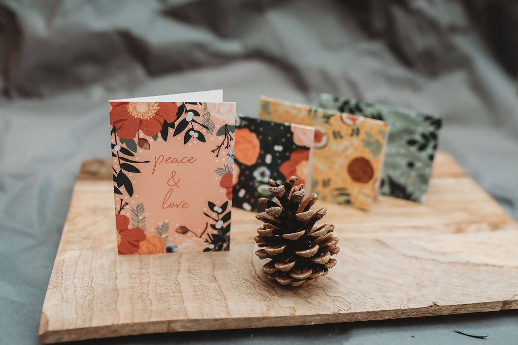 Festive Cheer Mini Folded Note Cards - Set of 6