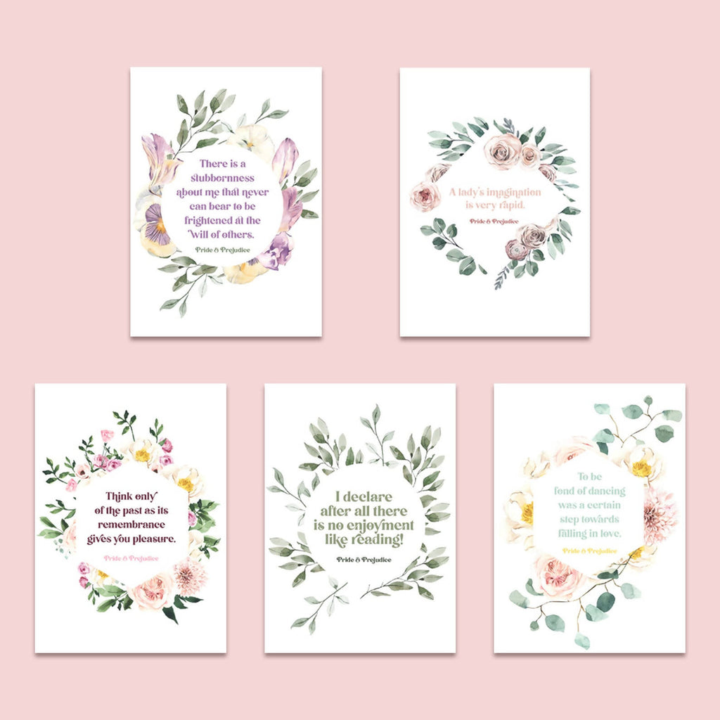 Pride and Prejudice Postcard Set - Eco-Friendly