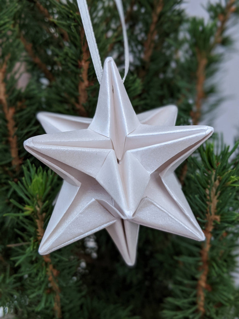 ivory origami Christmas tree decoration
