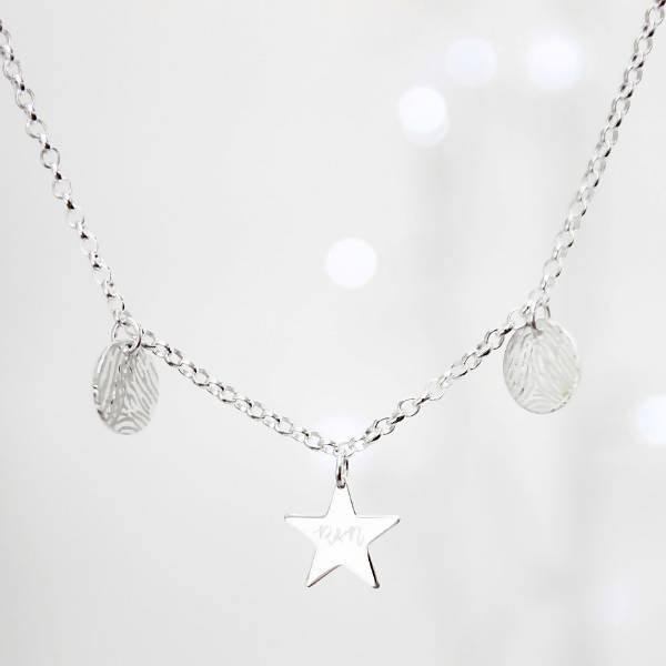 Written in the Stars Personalised Fingerprint Necklace