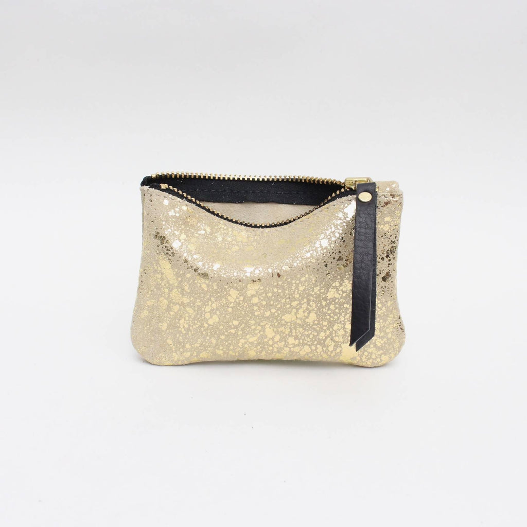 Foxcombe Coin Pouch - Gold Metallic Fleck