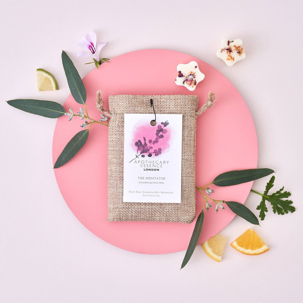 Sweet Orange, Rose Geranium and Eucalyptus - The Meditator Wax Melts