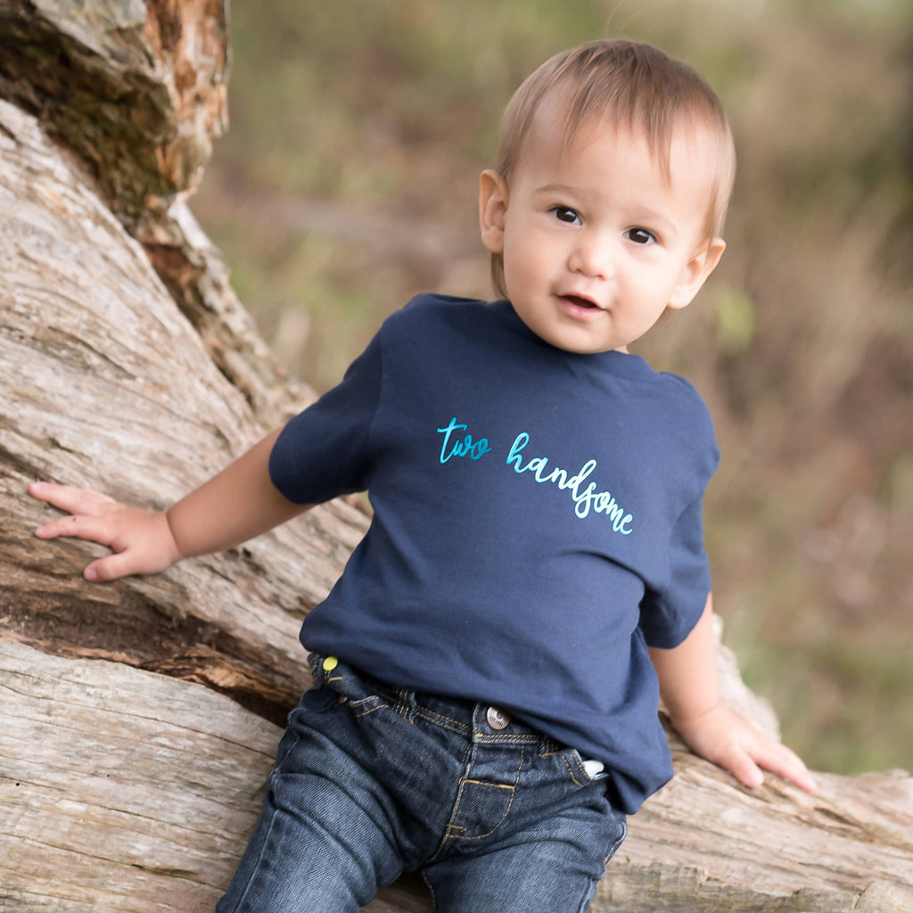 Two Handsome Slogan 2nd Birthday T-Shirt