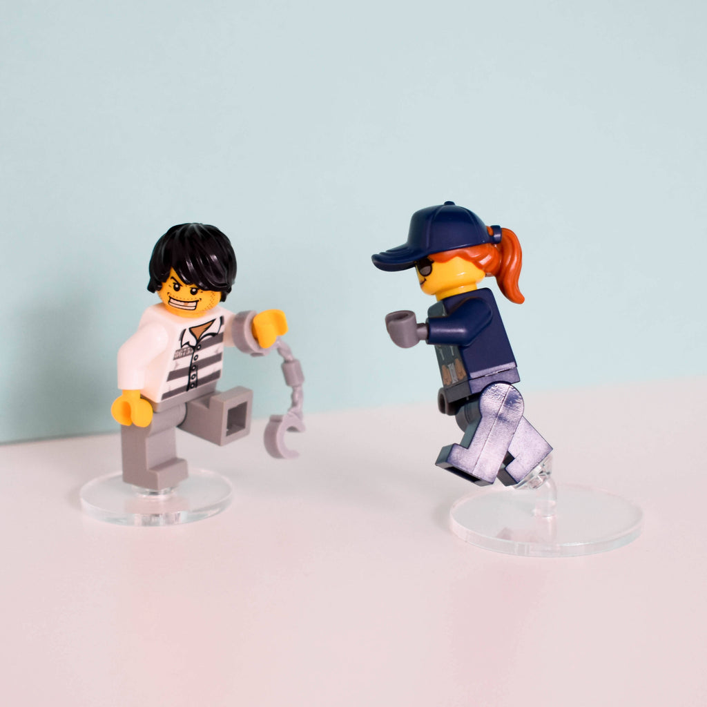 Minifigure Acrylic Posing Stands