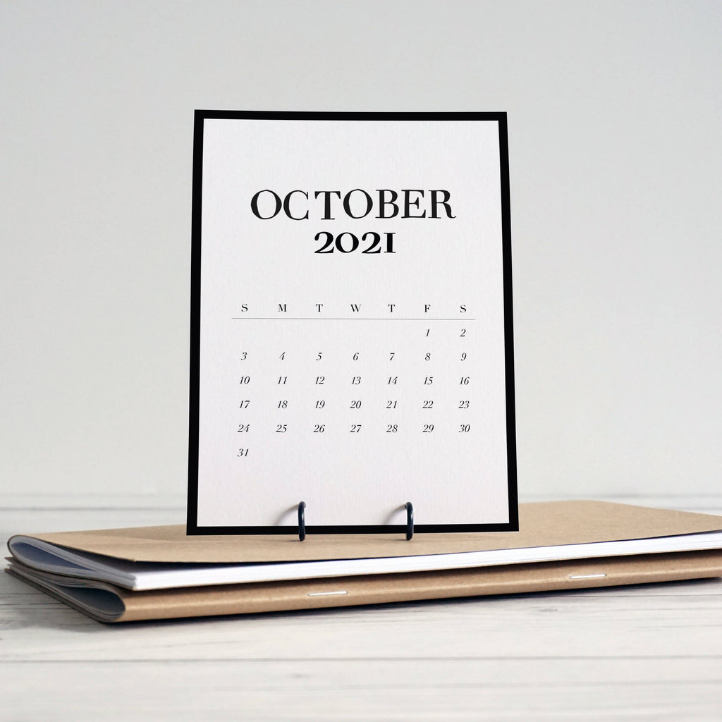 Simple, 2021 desk reference calendar