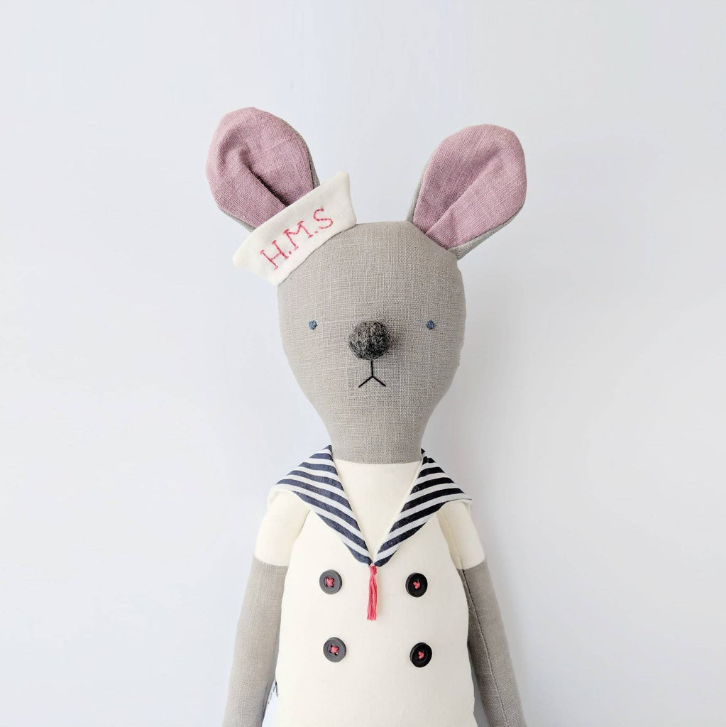 Sailor mouse cloth doll