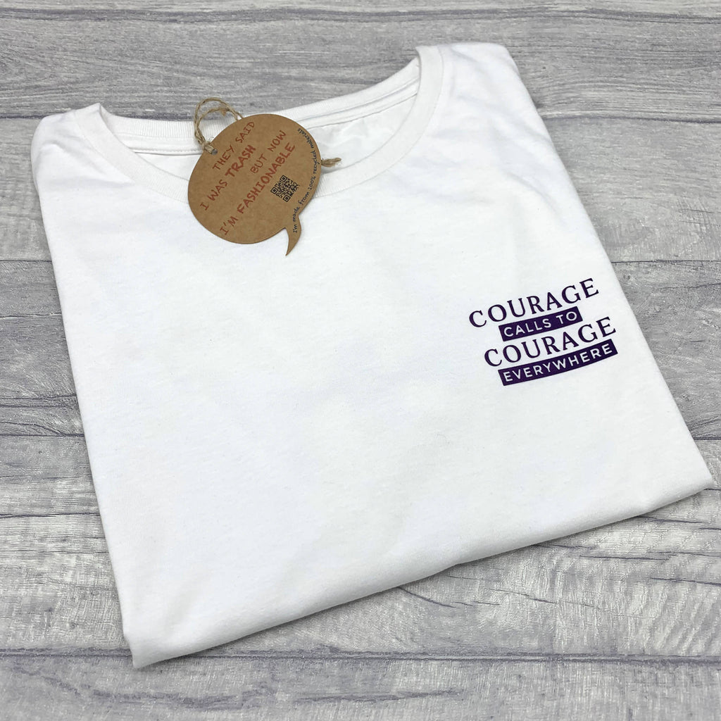 Courage Calls To Courage Everywhere Recycled T-Shirt - Eco-Friendly