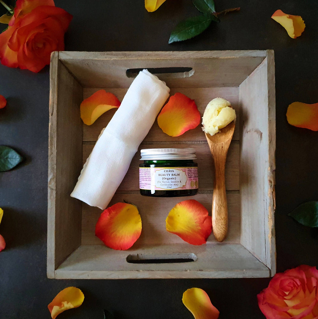 Chaya Beauty Balm (Organic) [For Combination, Sensitive and Normal/Pitta skin) 50ml (Rose Geranium & Palmarosa)