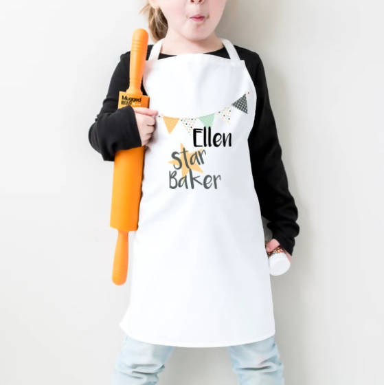CHILD STAR BAKER PERSONALISED APRON & HAT