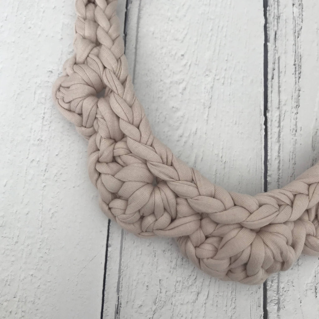 Amelia Fabric Necklace in Nude