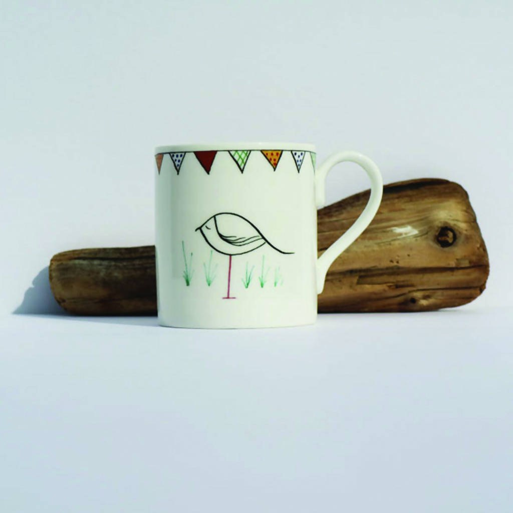 Pen & Ink Design Bone China Short Mug