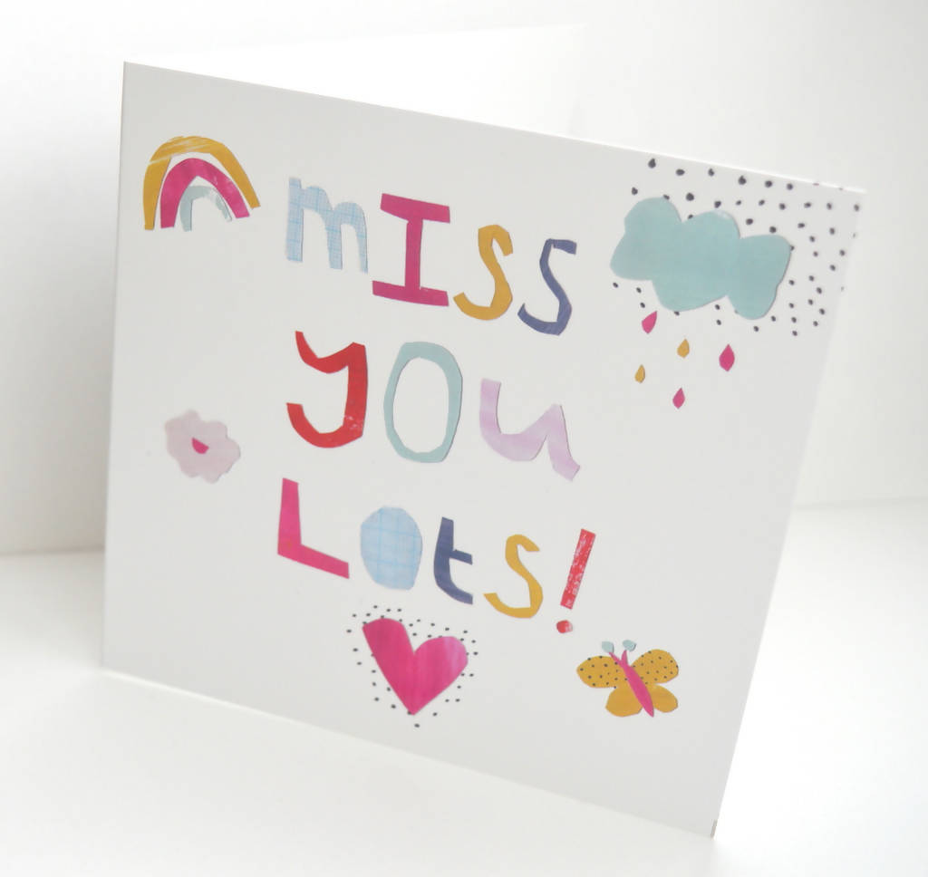 Dolly Pepper Studio, Greeting cards, Miss you lots