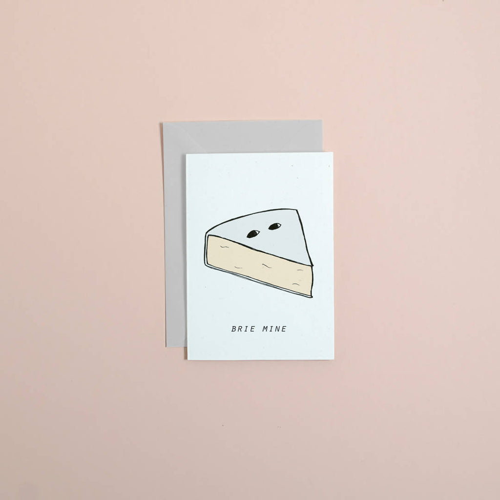 be mine // brie mine // cheesy card // cheese lover // pun greetings cards // stationery // valentines day // love