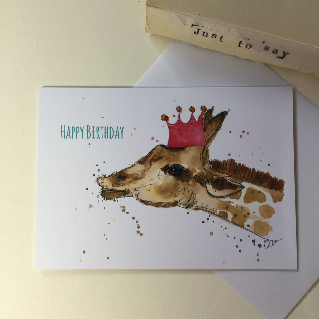 Happy Birthday Giraffe card