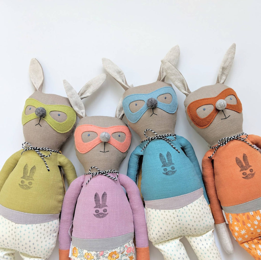 Superhero bunny doll