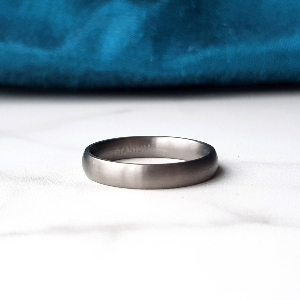 Matte Titanium Ring - Plain or Engraved
