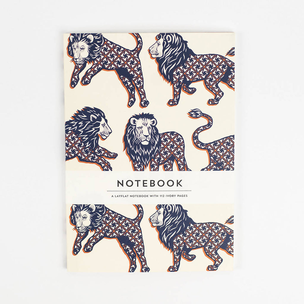 UNION JACK LION PAPERBACK NOTEBOOK