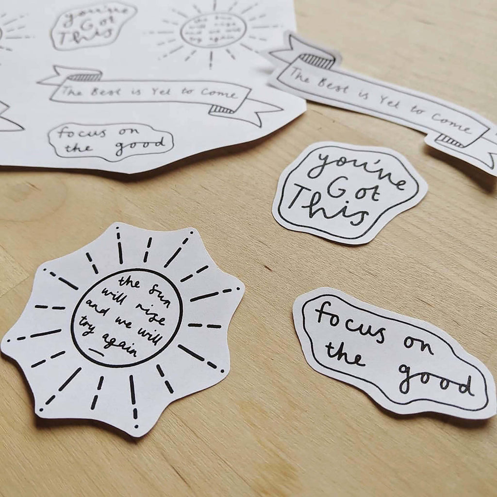 Positive Quote Transparent Vinyl Stickers