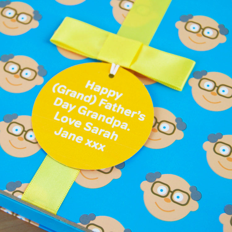 Grandpa Gift Book With Socks and Personalised Tag. FREE SHIPPING.
