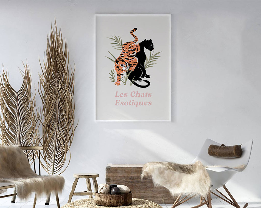 Les Chats Exotiques. Big cat Illustration