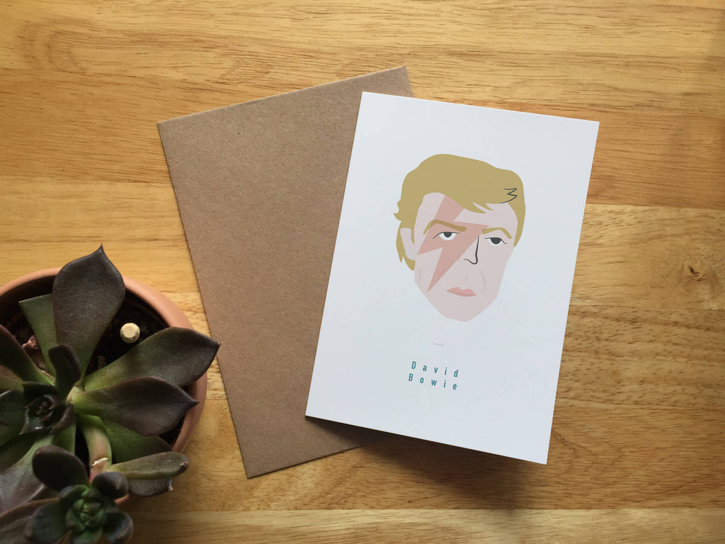 David Bowie Greeting card A6 Blank Ziggy Stardust