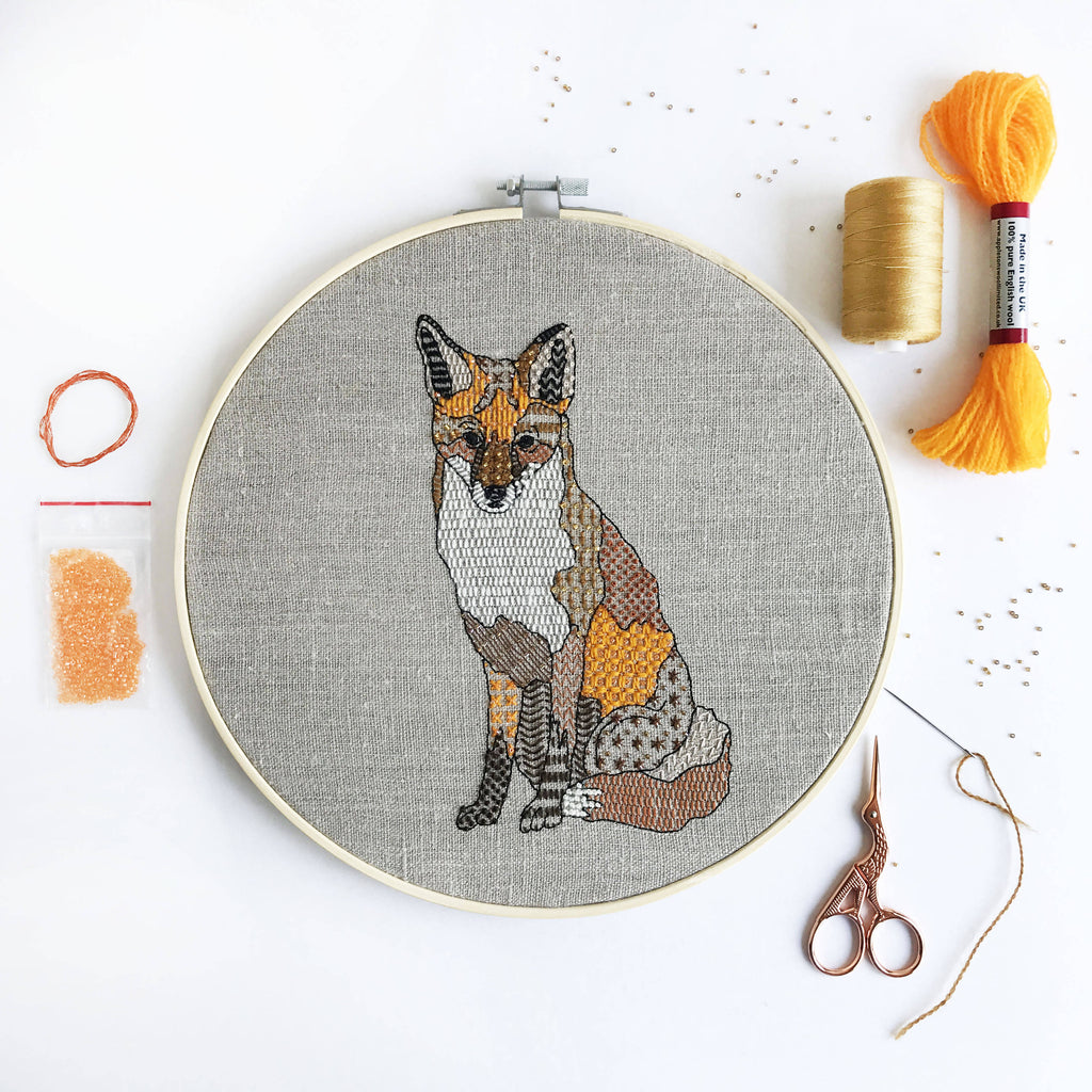 Red Fox Embroidery Craft Kit
