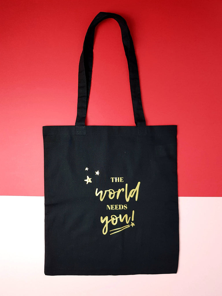 Tote & Make-up bag set 'The world needs you!'