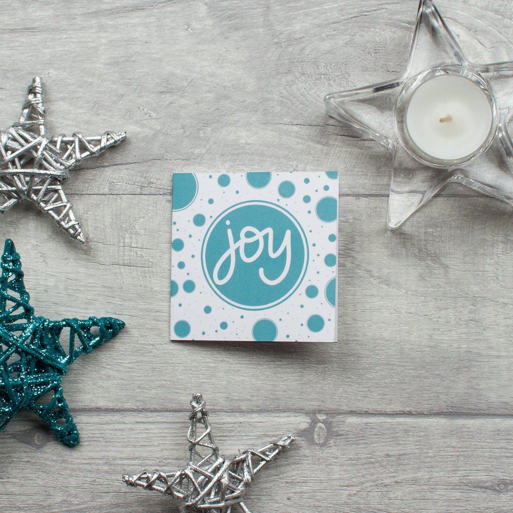 Small square Christmas Joy card - 10 pack
