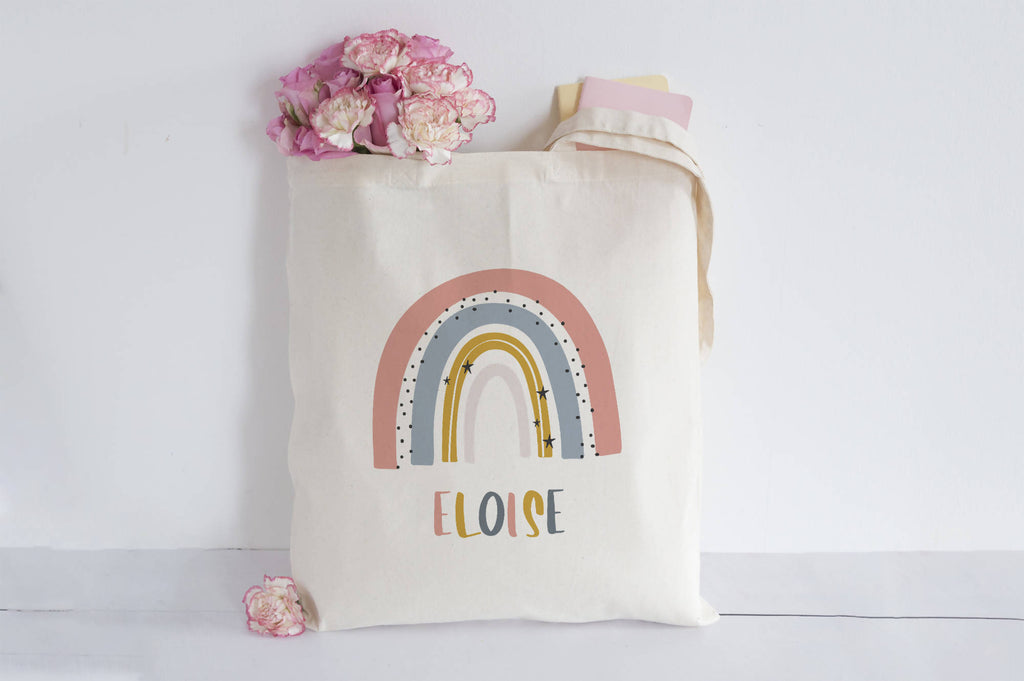 Personalised Rainbow Tote bag